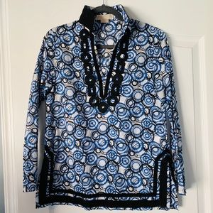 MK Michael Kors Blue Embroidered S